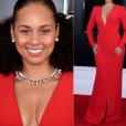 Looks do Grammy Awards 2019: Alicia Keys também apostou no vermelho