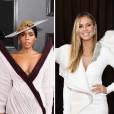 Looks do Grammy Awards 2019: Vestido branco e curto com Janelle Monae e Heidi Klum