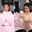 Looks do Grammy Awards 2019: Kylie Jenner e Cardi B durante o evento
