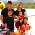 Wesley Safadão é pai de  Yhudy, de 8 anos, Ysis, de 4, e Dom, de 4 meses