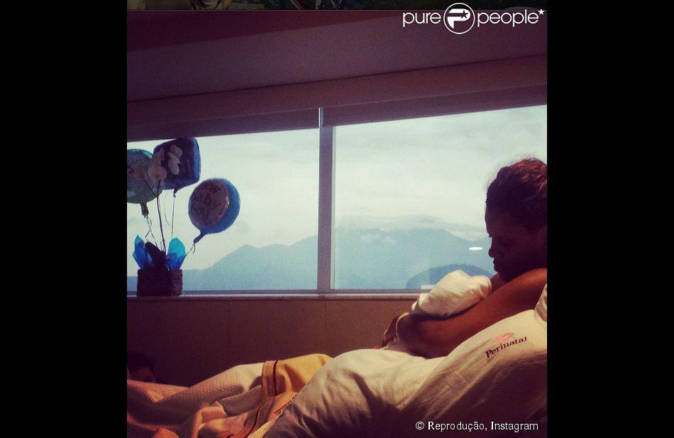 Igor Rickli usou seu Instagram para anunciar o nascimento do primeiro filho, Antonio, nesta sexta-feira, 26 de setembro de 2014