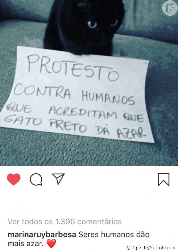 Marina Ruy Barbosa deixou comentário no post de Aguinaldo Silva