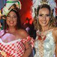 Fabiana Karla se encontrou com Leona Cavalli no baile do Copacabana Palace