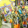 Camila Pitanga desfilou na ala da Mangueira que homenageou ao abolicionista negro Luís Gama