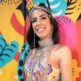 Camila Coutinho com bodychain e cabeça, criações de Eduardo Caires, com styling de Daniel Ueda no Carnaval em Olinda