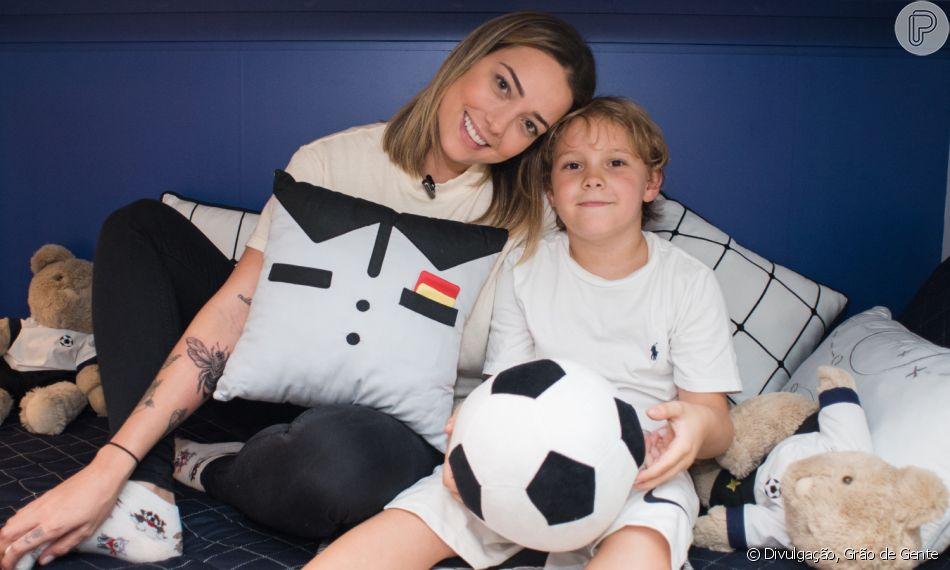 Carol Dantas posa abraçada a Davi Lucca e web divide opinião: 'Parecendo o pai'
