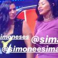 Simaria se emociona ao vivo durante a exibição do  The Voice Kids, neste domingo, dia 24 de março