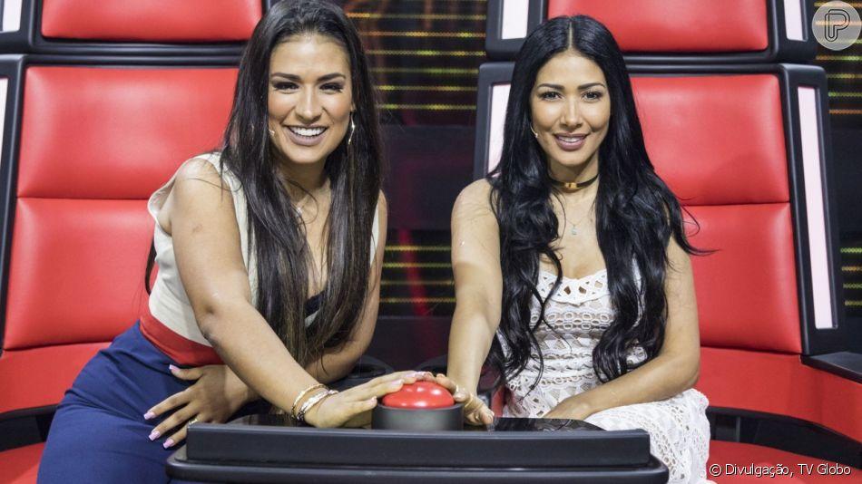 Simaria confunde fãs ao aparecer de peruca no The Voice Kids e ainda recebe zoação de Simone, neste domingo, dia 24 de março