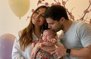 Mãe de Zoe, Sabrina Sato recebe visita de filhos de Junior Lima e Carol Trentini