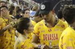 Cleo Pires é vista em clima de intimidade com o ex, em camarore da Sapucaí