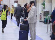 Fátima Bernardes mata saudade do namorado, Túlio Gadêlha, em aeroporto. Fotos!