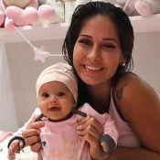 Mayra Cardi introduz frutas na alimentação da filha, Sophia: 'Uma linha vegana'