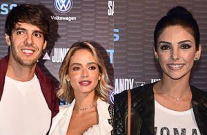 Kaká, a noiva, Carol Dias, e a ex, Carol Celico, curtem show de Sandy e Junior