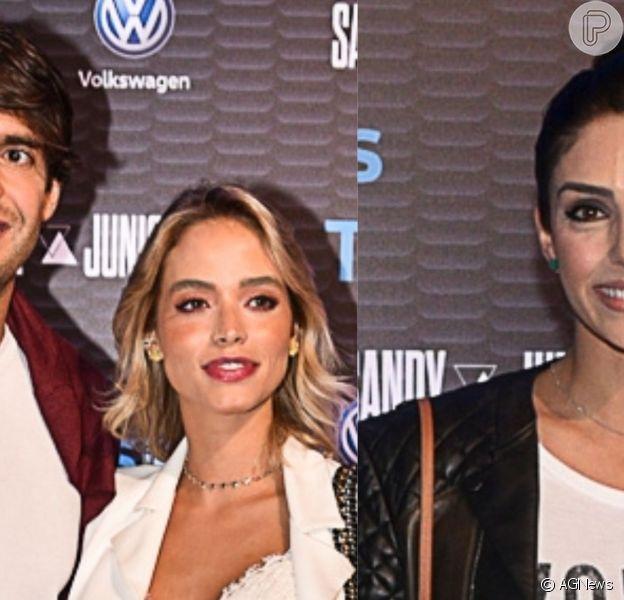 Carol Dias e o noivo, Kaká, foram ao show de Sandy e Junior, prestigiado ainda por Carol Celico, ex-mulher dele, na noite desta terça-feira, 2 de abril de 2019