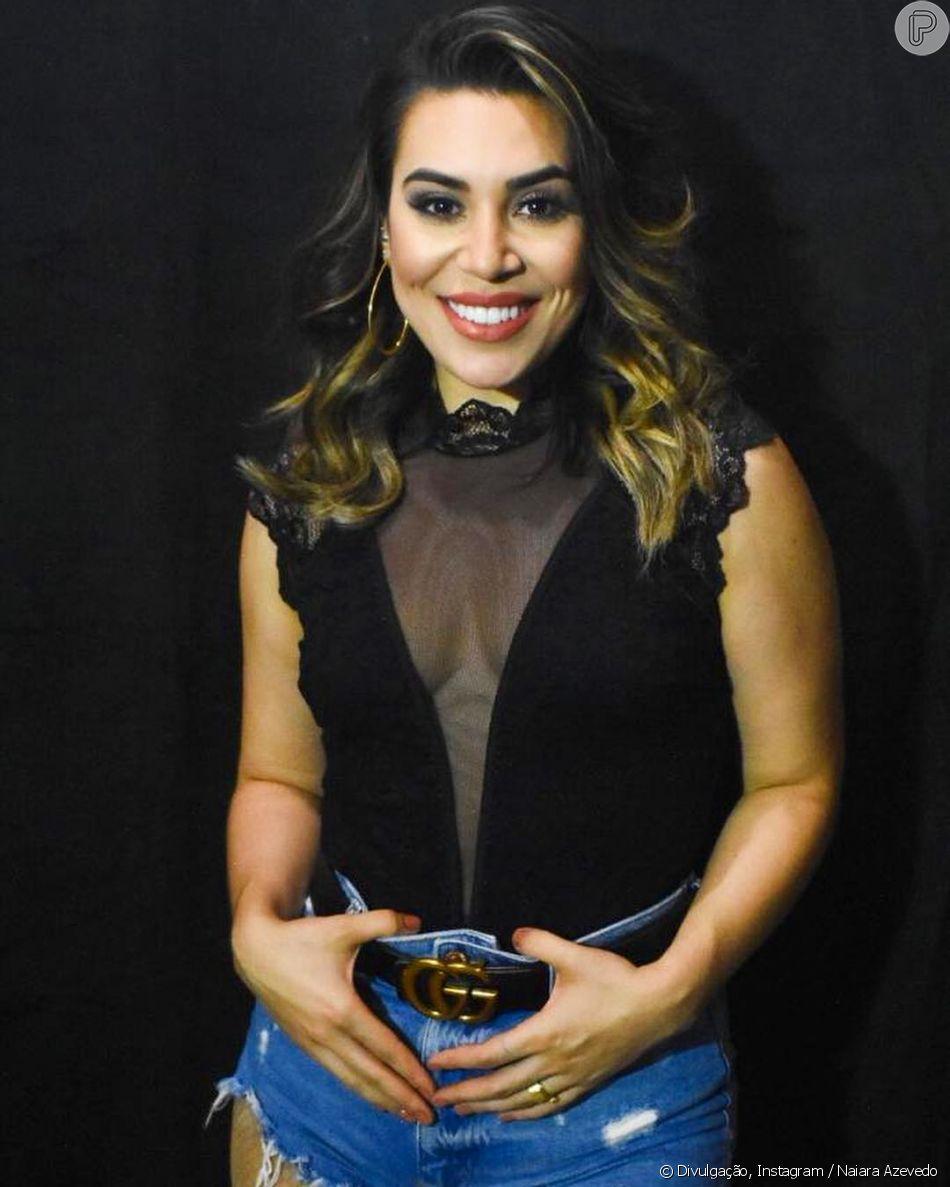 Naiara Azevedo conta que sofreu preconceito por ser gordinha no início da carreira no programa 'Altas Horas' na noite deste sábado, 6 de abril de 2019