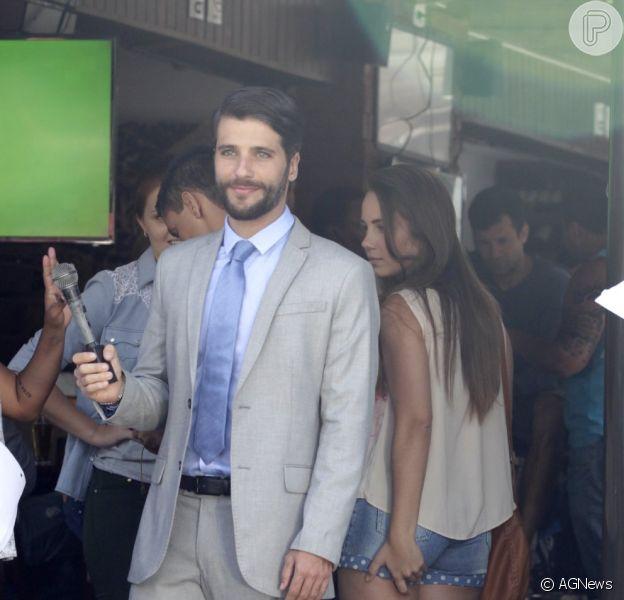Bruno Gagliasso gravou a série 'Dupla Identidade' na Barra da Tijuca, Zona Oeste do Rio, nesta segunda-feira, 6 de outubro de 2014