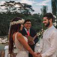 Tal como no casamento, Alok e Romana Novais preferiram uma cerimônia intimista para a renovação de votos