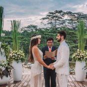 Intimista & ao ar livre: Alok e Romana Novais renovam casamento em Bali. Fotos!
