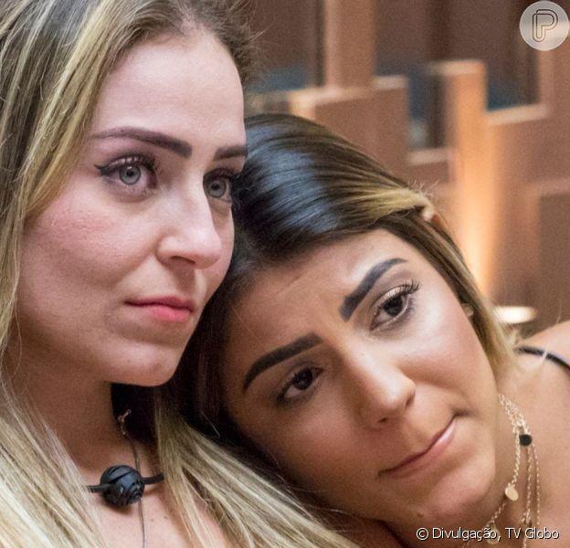 Hariany empurrou a participante Paula do BBB 19 na madrugada desta quinta-feira, dia 11 de abril de 2019