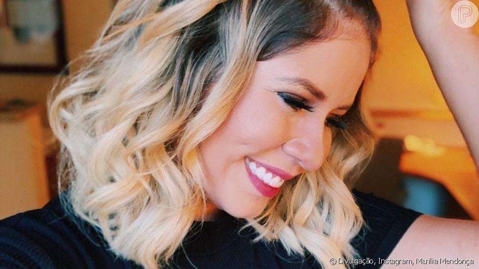 Marilia Mendonça repete penteado em foto e ganha elogio de famosos