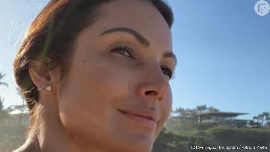 Patricia Poeta destacou beleza natural em foto sem maquiagem nesta quinta-feira, 18 de abril de 2019