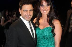 Zezé Di Camargo curte festa com Graciele Lacerda: 'Perdidamente apaixonado'