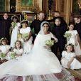 Meghan Markle e príncipe Harry se casaram no dia 19 de maio de 2018. Princes Charlotte e Príncipe George foram daminha e pajem do casamento do tio. A menina, claro, uma dama de honra profissional, foi um dos destaques da cerimônia.