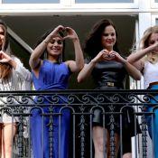 Selena Gomez e colegas de elenco de 'Spring Breakers' atraem multidão na França