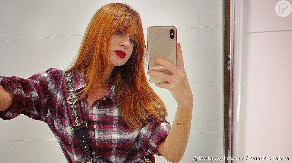 Marina Ruy Barbosa posa com dublê em reta final da novela 'O Sétimo Guardião'. Veja abaixo!
