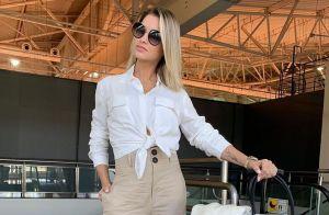 Andressa Suita combina trends daddy sneaker e budget bag em aerolook. Veja como!
