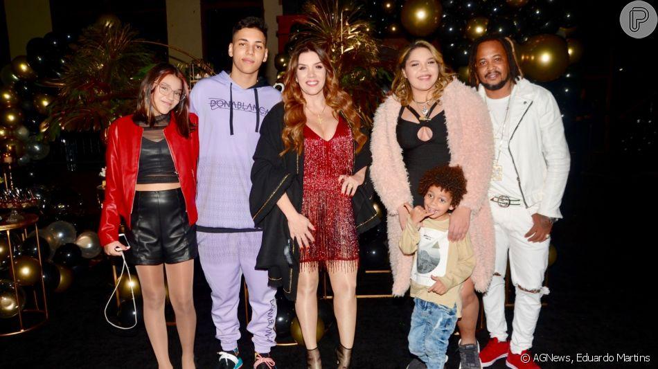 Filho de Simony, Ryan reuniu a mãe, o pai, Afro-X, e os irmãos, Aysha, Pyetra e Anthony, em seu aniversário de 18 anos, nesta quarta-feira, 5 de junho de 2019