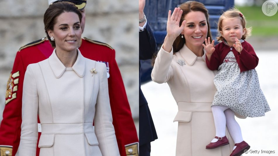 Kate Middleton repete  trench coat em look nesta quinta-feira, dia 06 de junho de 2019