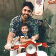 Semelhança entre Rafael Cupello e o filho impressionou os internautas