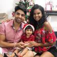 Aline Dias e Rafael Cupello se dividem nos cuidados com o filho