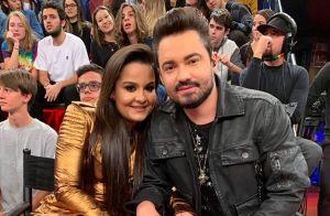 Maiara faz surpresa para namorado, Fernando Zor, em show: 'Povo fala demais'