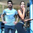 Adriana Sant'Anna  pegou pesado no treino na academia com marido