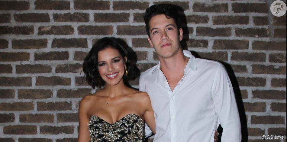 Mariana Rios e Lukas Kalil prestigiam festa de aniversário de Marcos Mion