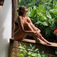 De férias no Brasil, Sasha Meneghel está em Fernando de Noronha