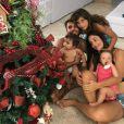 Daniel Cady estava incentivando as filhas a pularem no brinquedo no vídeo gravado Ivete Sangalo