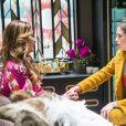 Josiane (Agatha Moreira) dirá para a mãe que renovou o guarda-roupa por fazer permuta com as marcas na novela 'A Dona do Pedaço'