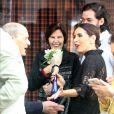 Fátima Bernardes também recebeu o carinho dos pais, Amâncio e Eunice