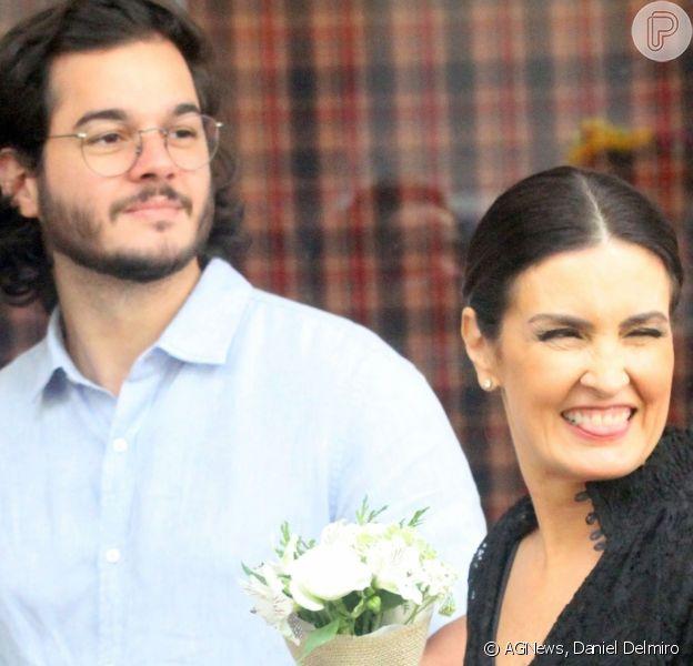 Fátima Bernardes foi prestigiada pelo namorado, Túlio Gadêlha, neste domingo, 7 de julho de 2019