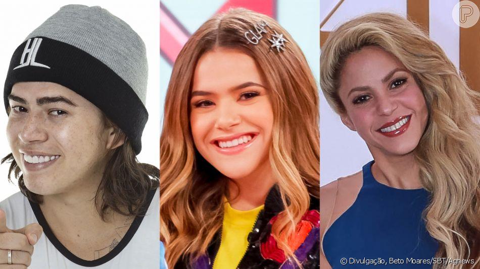 Whindersson Nunes e Shakira: Maisa posta foto sem make e é alvo de comparações nesta segunda-feira, dia 08 de julho de 2019