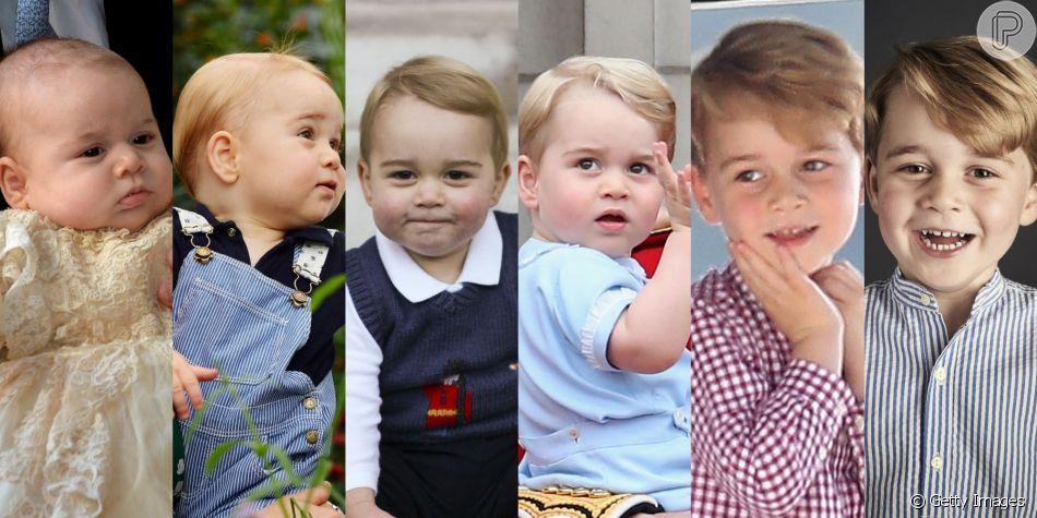 Príncipe George faz 6 anos: relembre crescimento do menino em 40 fotos nessa segunda-feira, dia 22 de julho de 2019