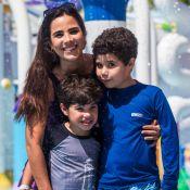 Wanessa curte parque com filhos e comenta período fora dos palcos: 'Sabático'