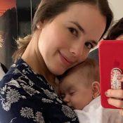 Thaeme comemora 3º mês de vida da filha, Liz, com foto da bebê: 'Amor mais puro'