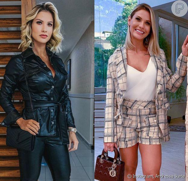 Stylist Izabelle Capuzzo contou como é relação de Andressa Suita com a moda