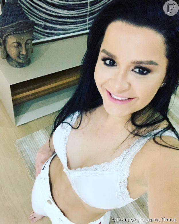 Maraisa exibe corpo mais magro em foto nesta quarta-feira, dia 31 de julho de 2019