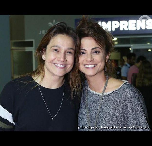 Fernanda Gentil levou a mulher, Priscila Montandon, para o show de Sandy e Junior no Rio nesta sexta-feira, 2 de agosto de 2019