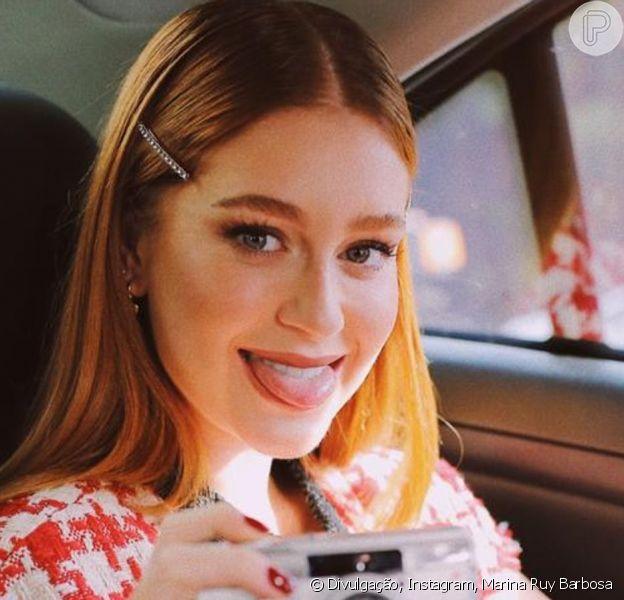 Marina Ruy Barbosa aposta em look grifado com trends para evento neste domingo, dia 18 de agosto de 2019
